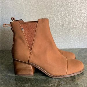 New Toms Esme Boots Tan Leather